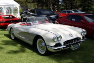 2013 Winner Post-War Sports Car Class Sponsored by Clockwork Print 1958 Chevrolet Corvette - Mark Bojanjac